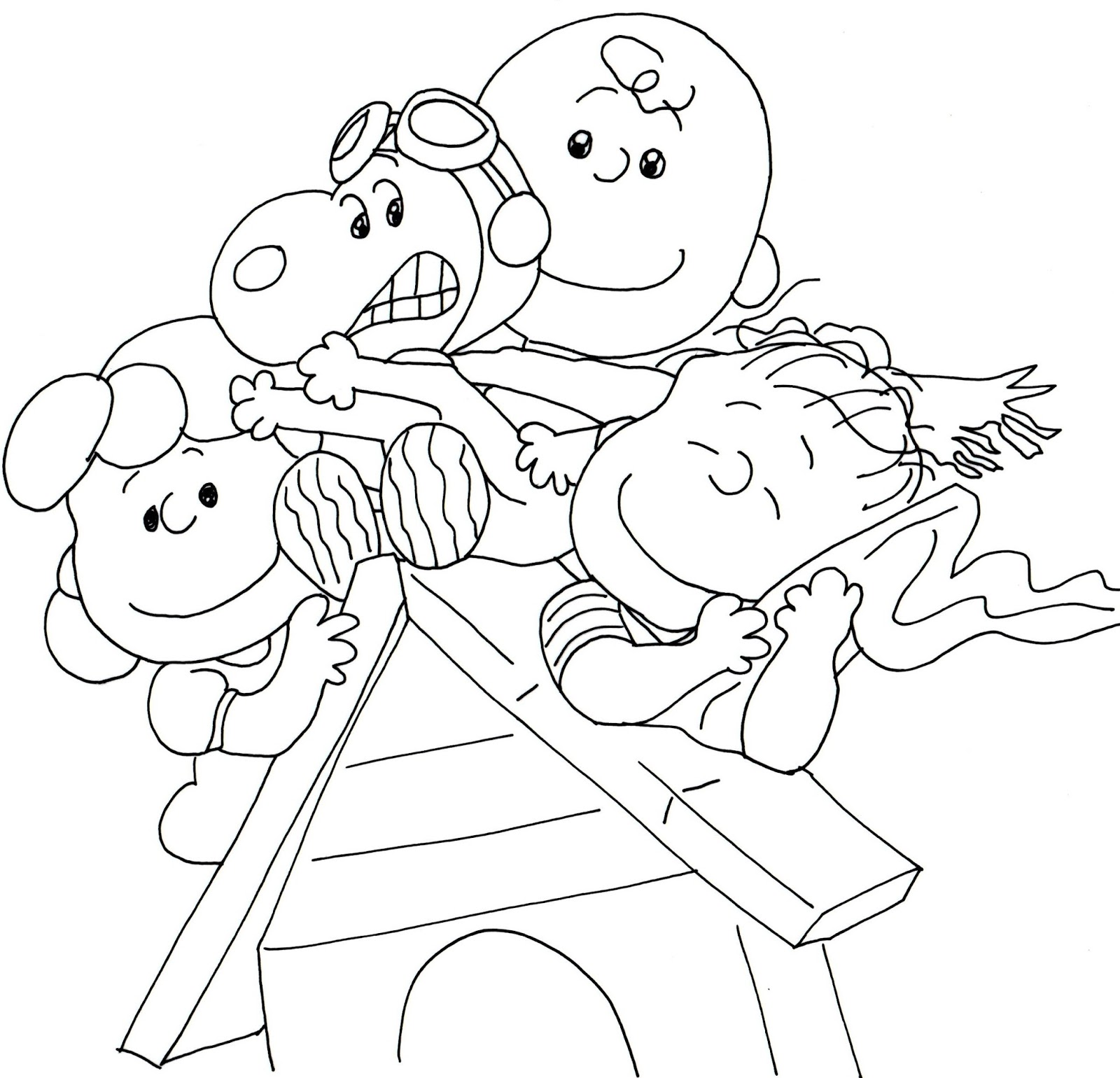 1600x1540 Free Charlie Brown Snoopy And Peanuts Coloring Pages January