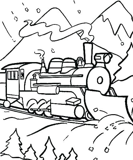 425x510 Polar Express Free Colouring Pages Polar Express Coloring Sheet