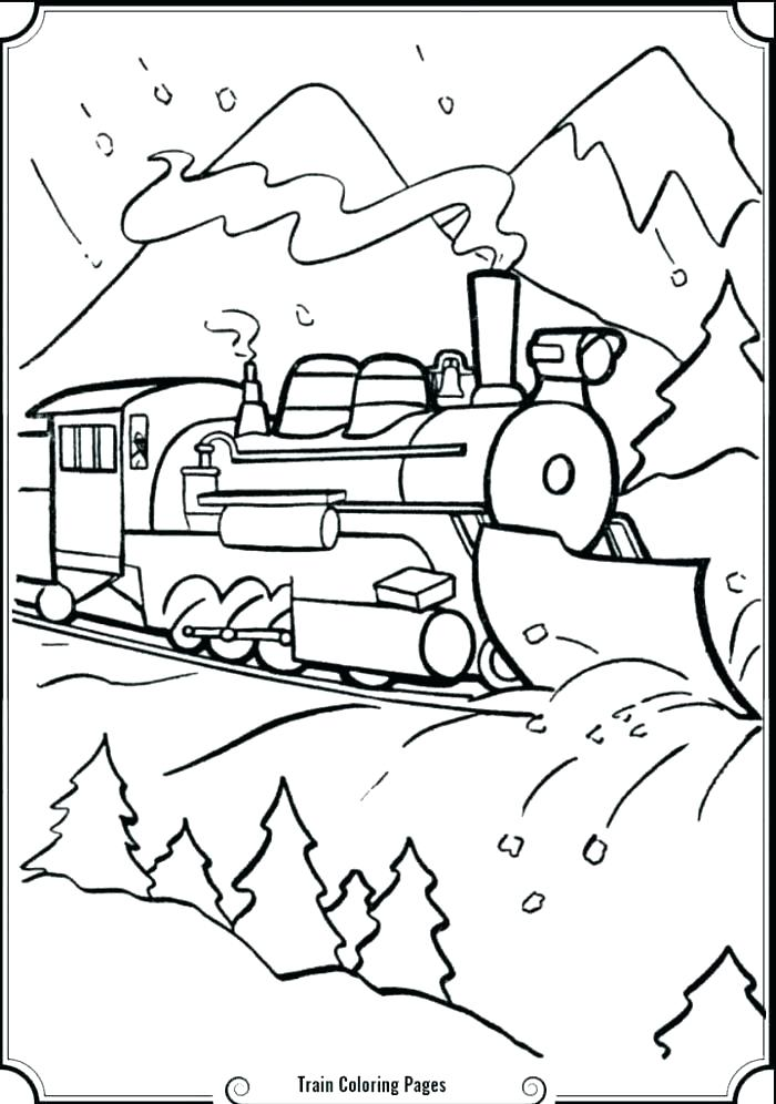 700x996 Polar Express Train Coloring Pages Printable