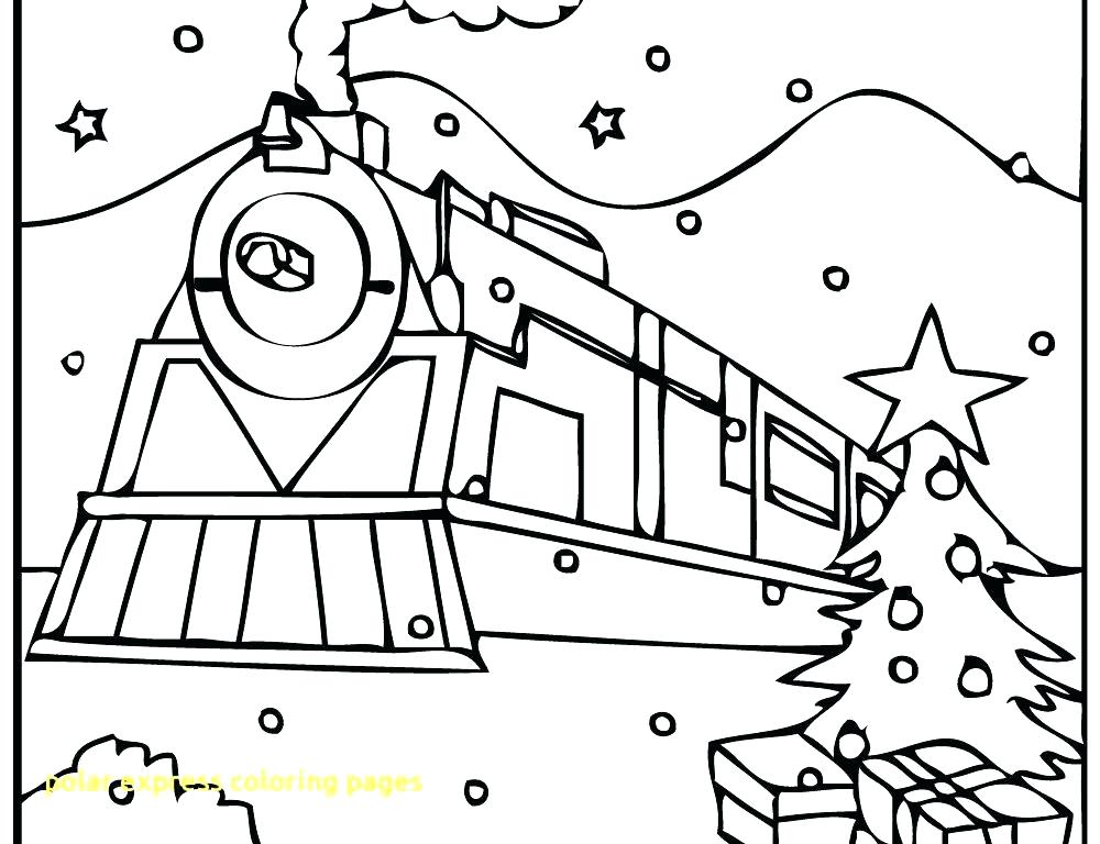 1000x768 Polar Express Coloring Page