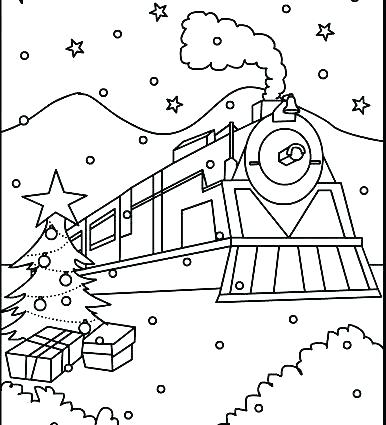 386x425 Polar Express Coloring Page Potty Training Coloring Sheets