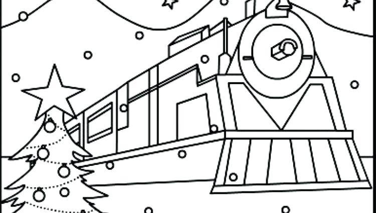 750x425 Polar Express Train Coloring Pages Educational Colouring
