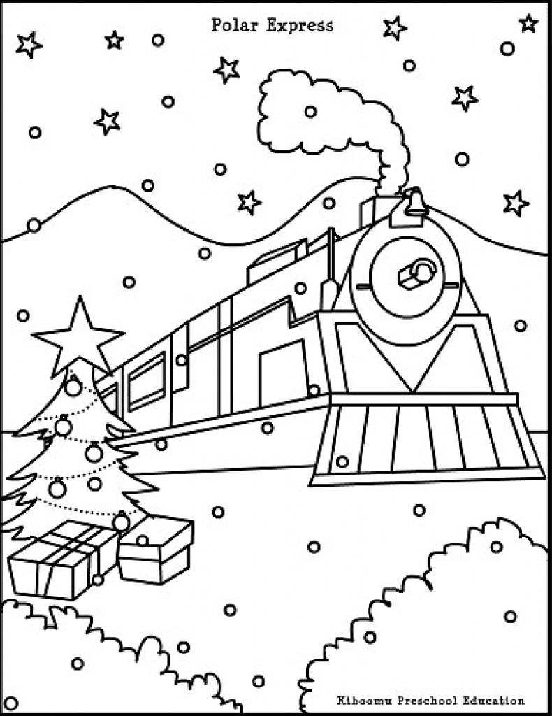 790x1024 Polar Express Train Coloring Pages Newyork Rp Com And Page Wagashiya