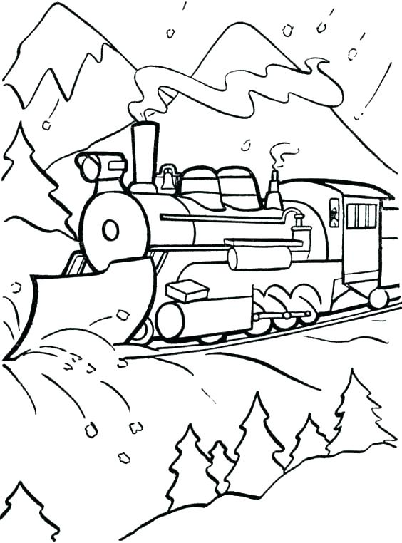 564x762 Polar Express Train Coloring Pages Polar Express Train Coloring