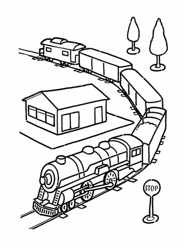 609x820 Polar Express Train Coloring Pages Printable