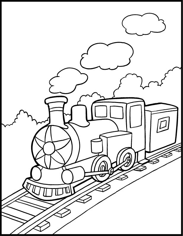618x798 Train Color Pages Free Printable Train Coloring Pages For Kids