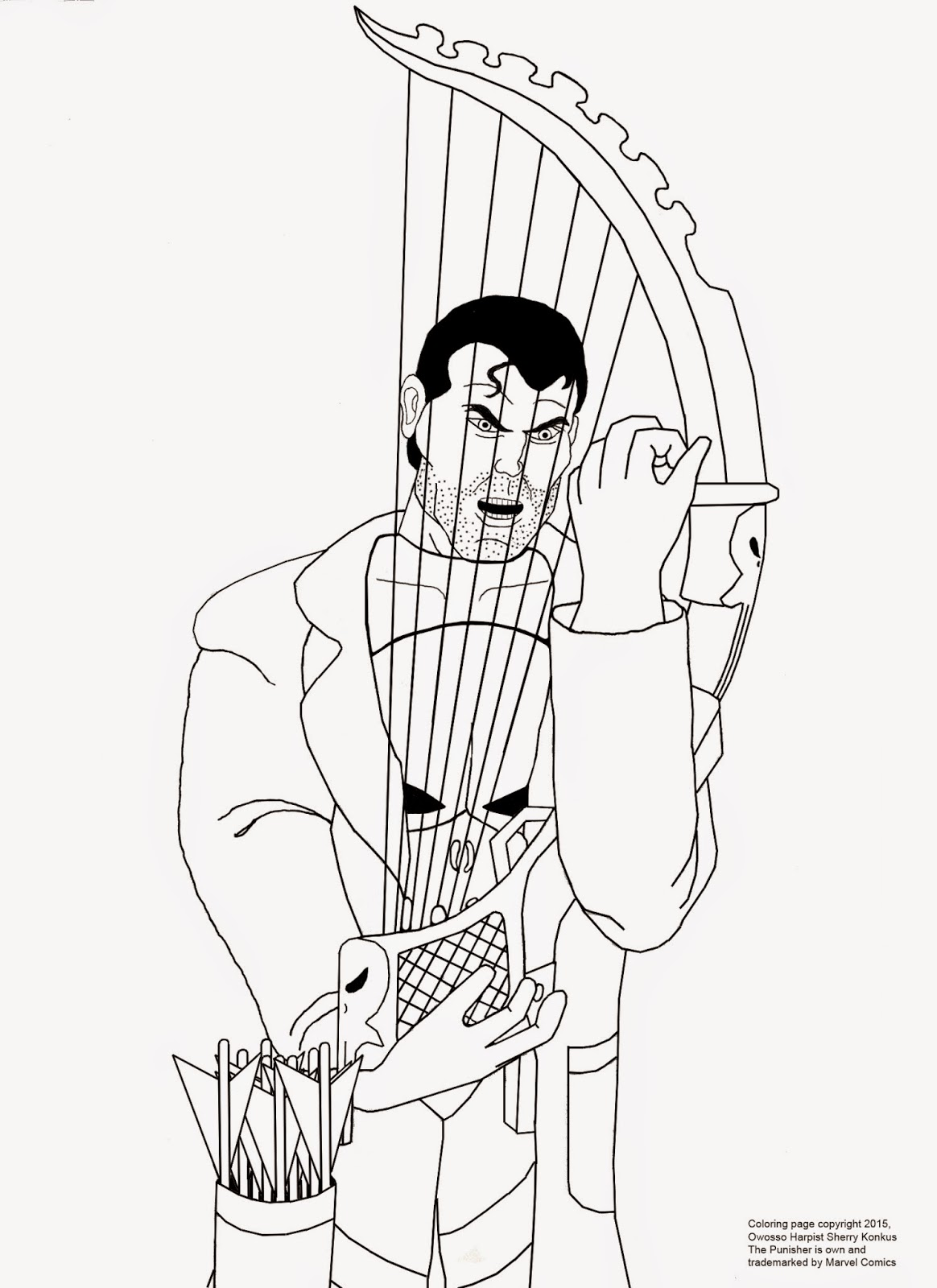 1164x1600 The Punisher Coloring Page