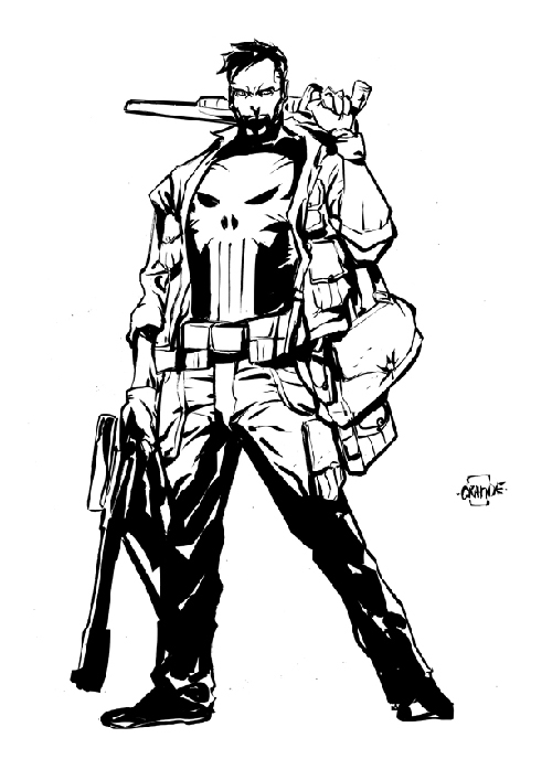 500x688 The Punisher Coloring Pages