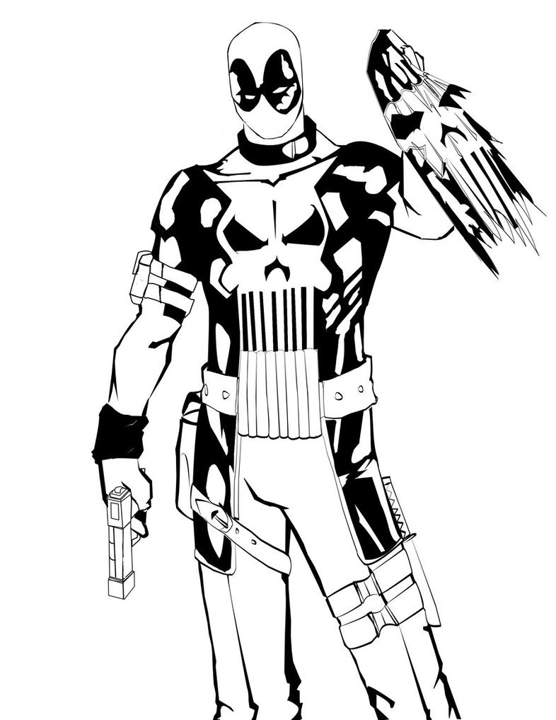 786x1017 Deadpool Punisher Free Coloring Page Deadpool, Kids, Movies