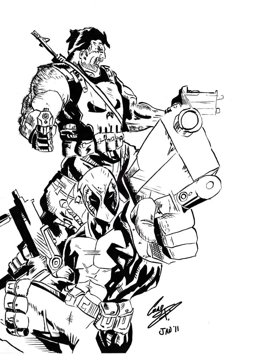 900x1168 Marvel Deadpool Coloring Pages