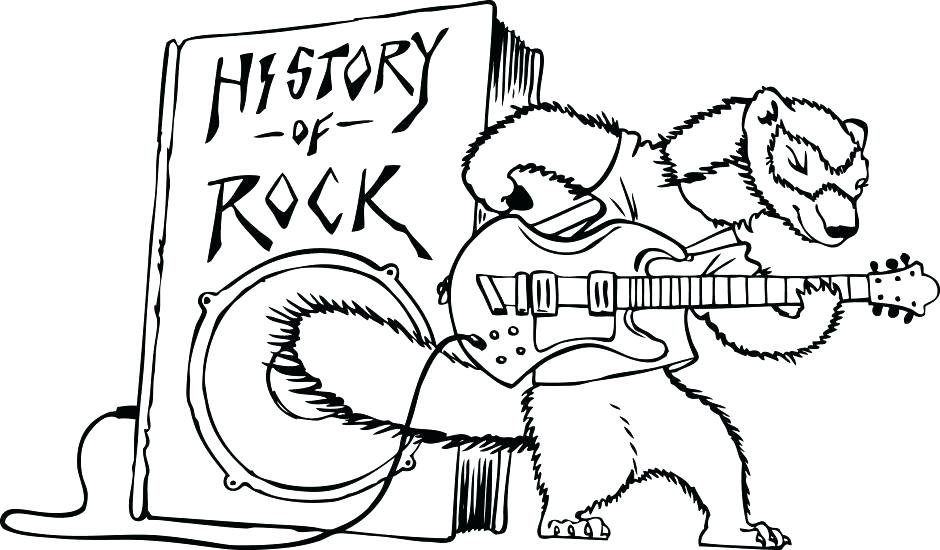 940x550 Rock And Roll Coloring Pages N