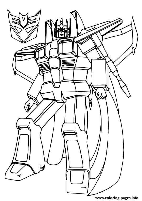 595x842 Print Transformers Star Scream Coloring Pages Sam's B Day