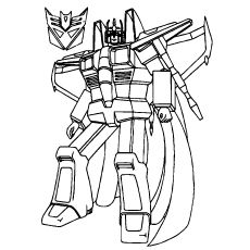 230x230 Star Scream In Transformer Coloring Page