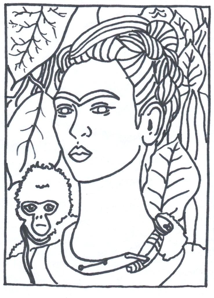 738x1024 Artist Coloring Page
