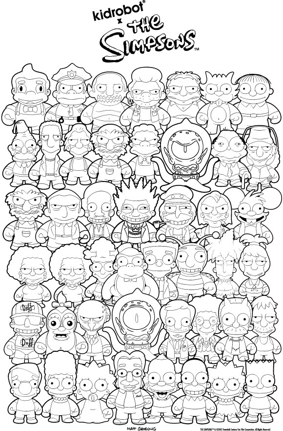 580x881 Simpson Coloring Pages