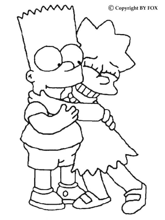638x850 Simpsons Coloring Page
