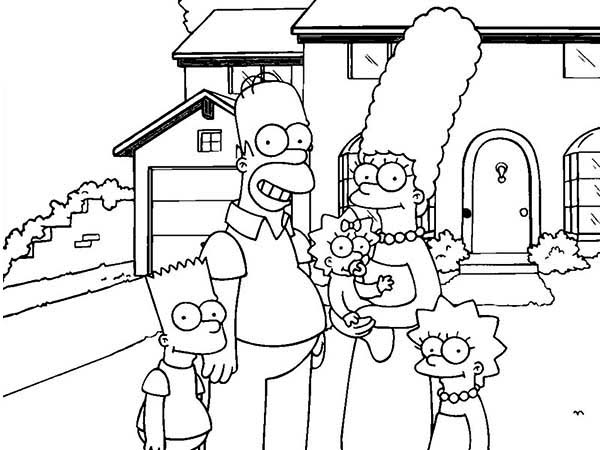 600x450 Simpsons Coloring Page Free Download