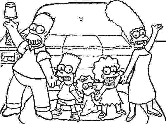 567x425 Simpsons Coloring Pages Coloring Pages Free The Page Surprising