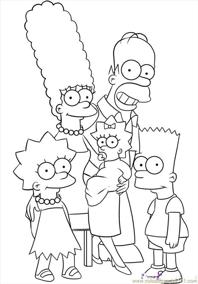 650x933 Simpsons Coloring Pages Lovely Simpsons Coloring Pages To Print