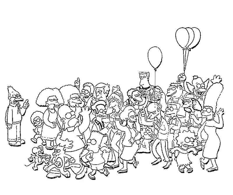 800x667 The Simpsons Coloring Pages All Character Coloring Pages Print