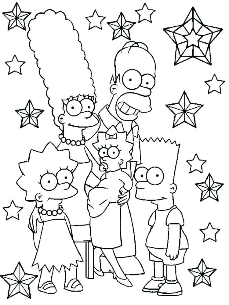 750x1000 The Simpsons Coloring Pages Stunning The Coloring Pages Print