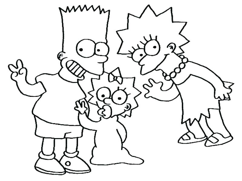 800x600 Coloring Pages Of The Simpsons