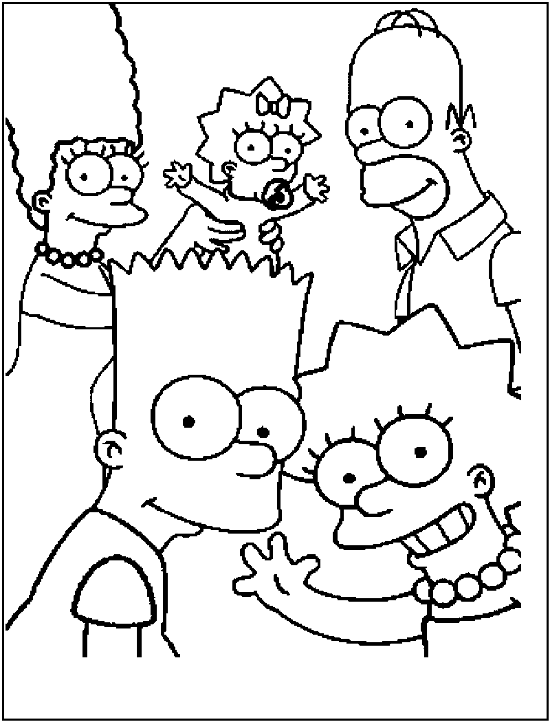 800x1050 Simpsons Coloring Pages Free Printable For Kids Ribsvigyapan