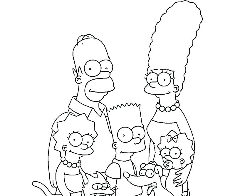 800x667 Simpsons Coloring Pages To Print Simpsons Colouring Pages