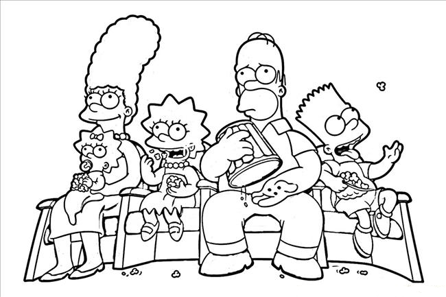 650x433 Free Printable Simpsons Coloring Pages
