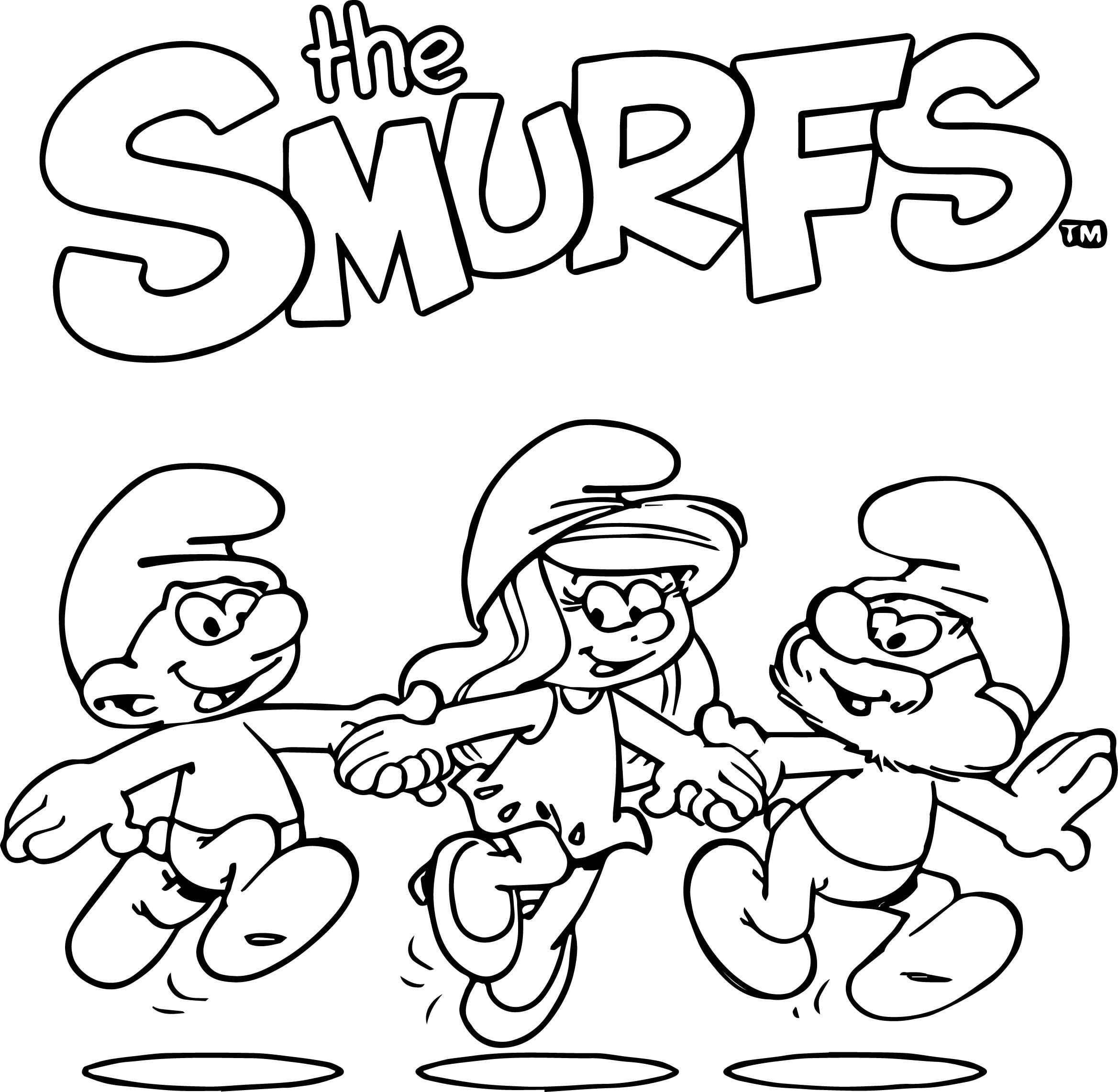 2337x2284 Shocking The Smurfs Coloring Pages For Kids Lovely Image Trends