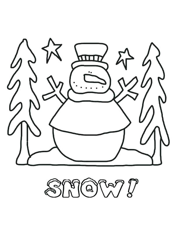 612x792 Snow Coloring Page Snow Coloring Sheet Snowy Day Coloring Page