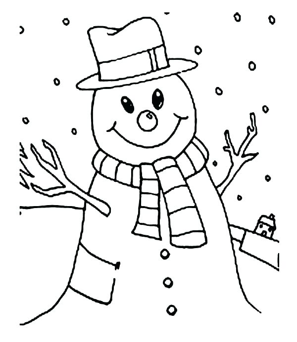 600x692 Snowy Day Coloring Page The Snowy Day Coloring Sheet Snowy Day