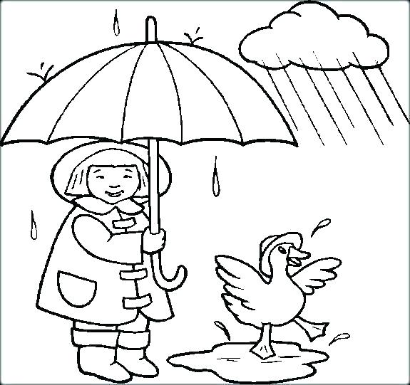575x541 Snowy Day Coloring Rainy Day Coloring Pages Rainy Day Coloring