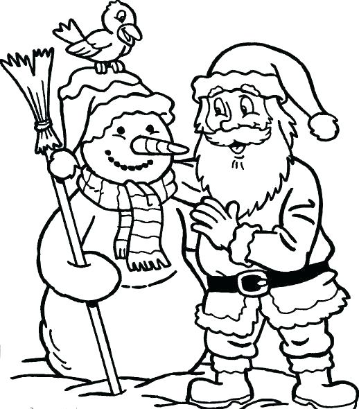 518x590 Snowy Day Coloring Snowman Coloring Pages Is Creative Inspiration