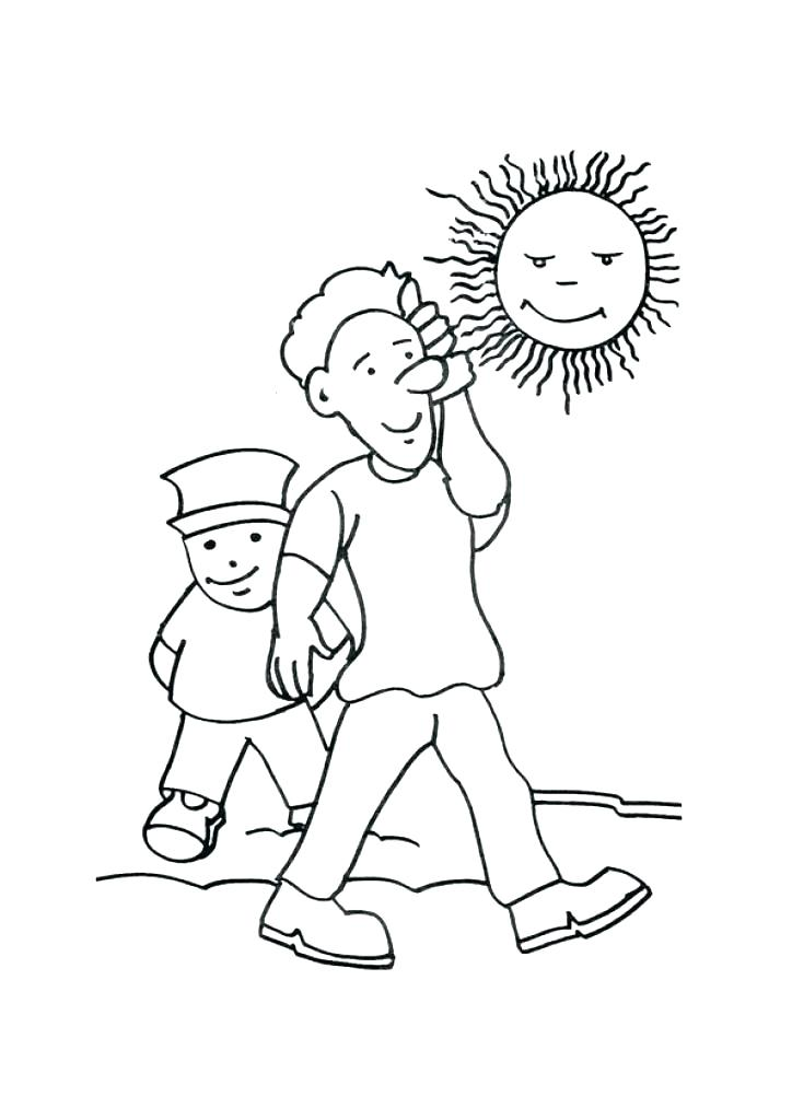 724x1024 Coloring Snowy Day Coloring Page Pages Weather Winter Theme