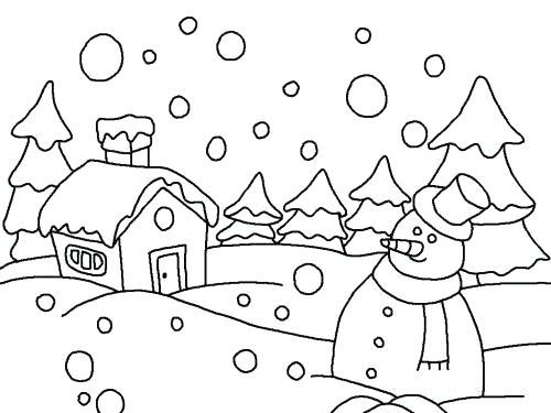 500x375 Snow Coloring Sheet