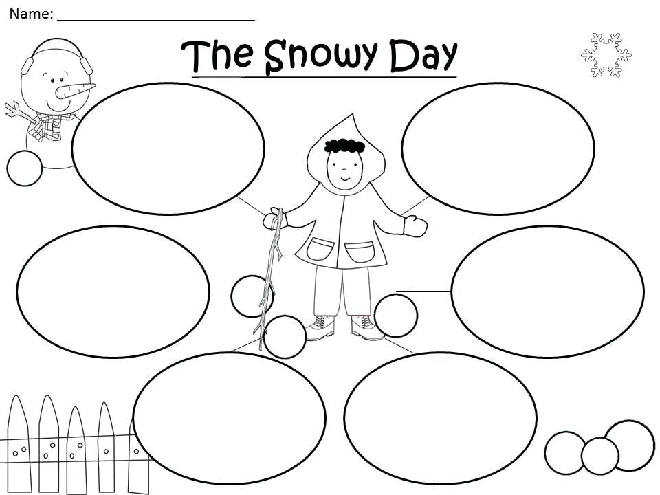 picture about The Snowy Day Printable named The Snowy Working day Coloring Website page at  Free of charge for