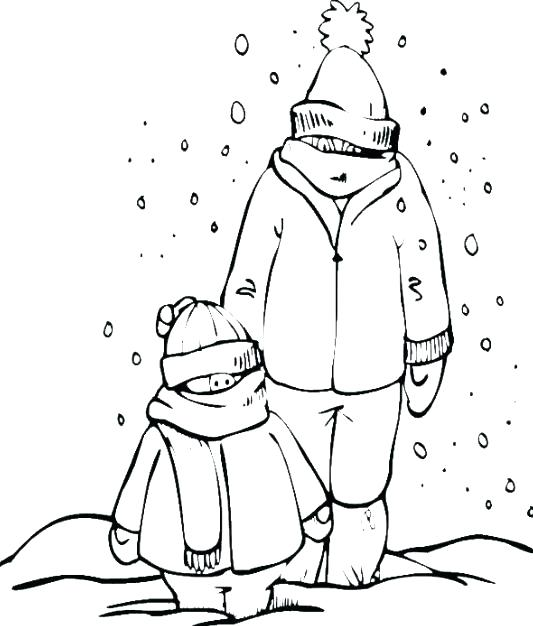 533x626 Coloring Pages Of Snow Snowy Day Coloring Page Snow Day Coloring