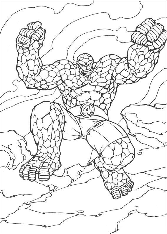 567x794 Best Fantastic Four Coloring Pages Images