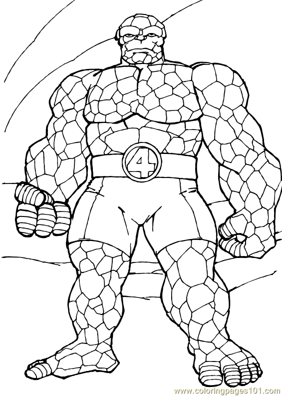565x792 Fantastic Four Coloring Page