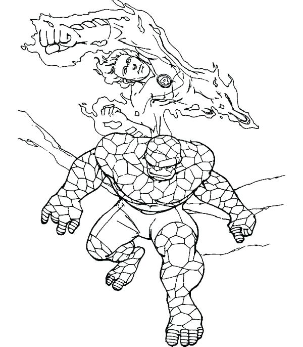 600x686 Fantastic Four Coloring Pages Fantastic Four Coloring Pages