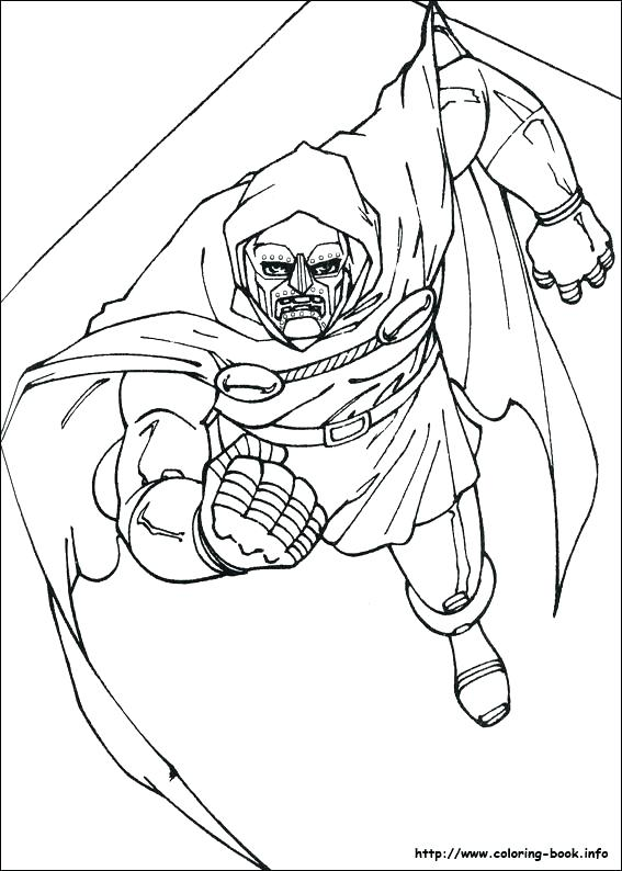 567x794 Fantastic Four The Thing Coloring Pages Human Torch Picture