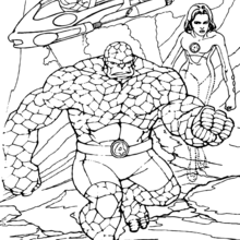 220x220 The Thing Coloring Pages