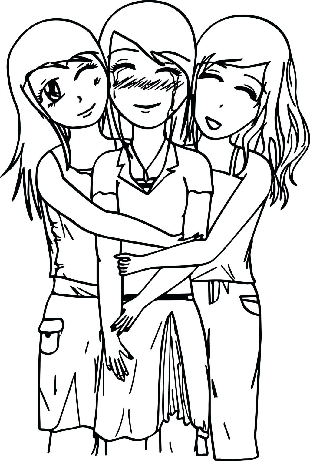 1024x1520 Coloring Page Fantastic Four Coloring Pages Three Best Friends