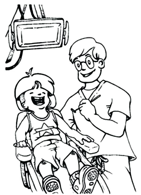 600x828 Dental Coloring Pages For Kids In Addition To Dental Health Is