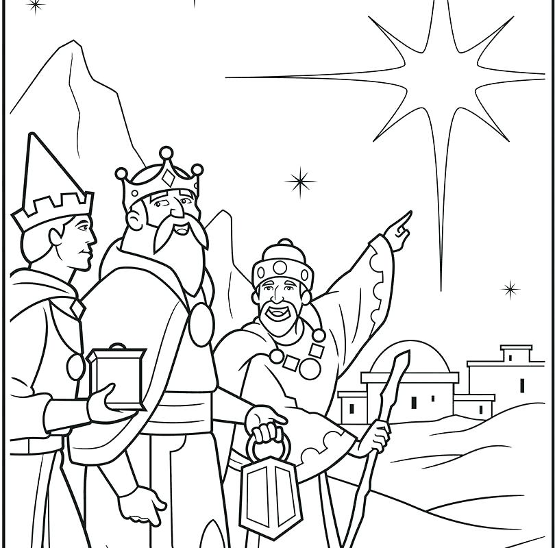 810x800 Wise Men Coloring Page Wise Men Coloring Pages King Coloring Pages