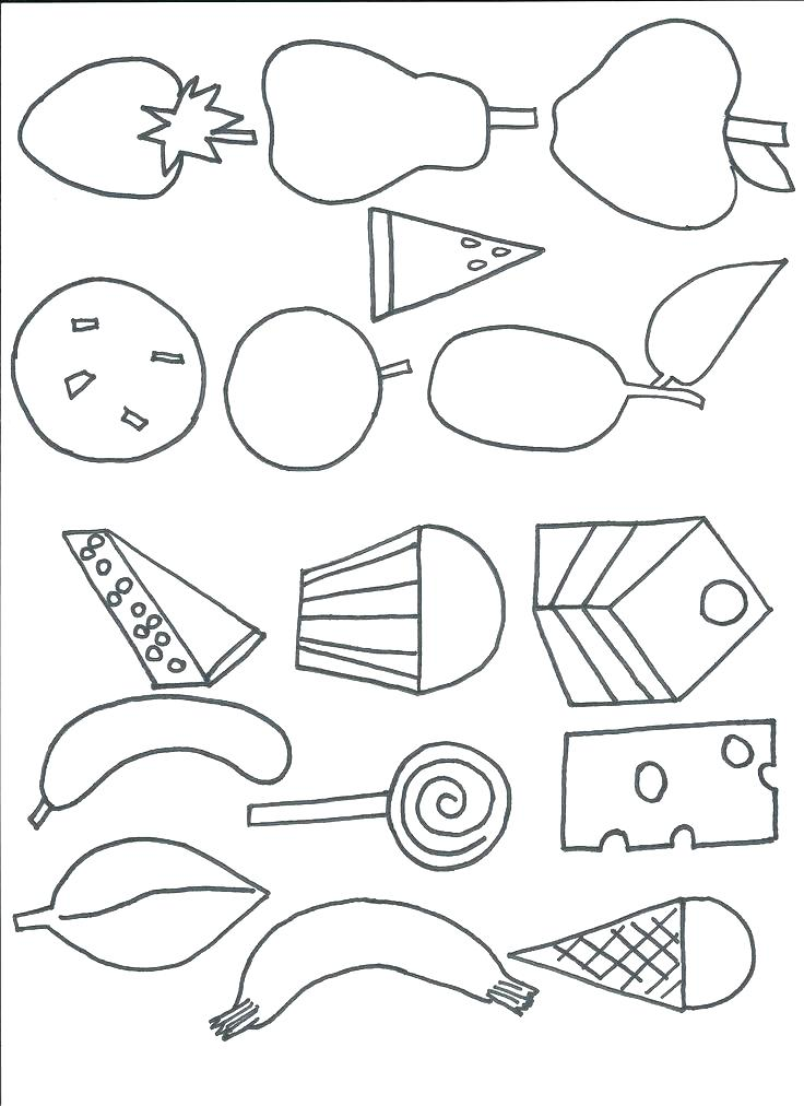736x1012 Hungry Caterpillar Coloring Page Very Hungry Caterpillar Coloring