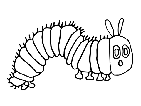 480x360 The Very Hungry Caterpillar Coloring Page Diy Coloring Page