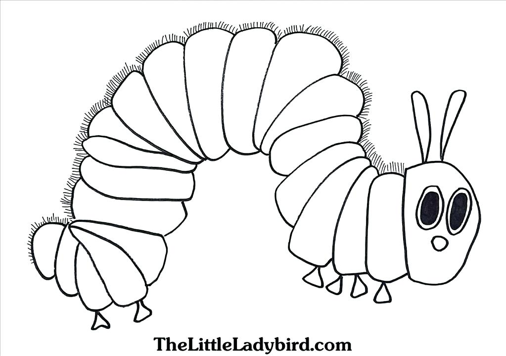 1023x719 The Very Hungry Caterpillar Coloring Pages Printables Top Very