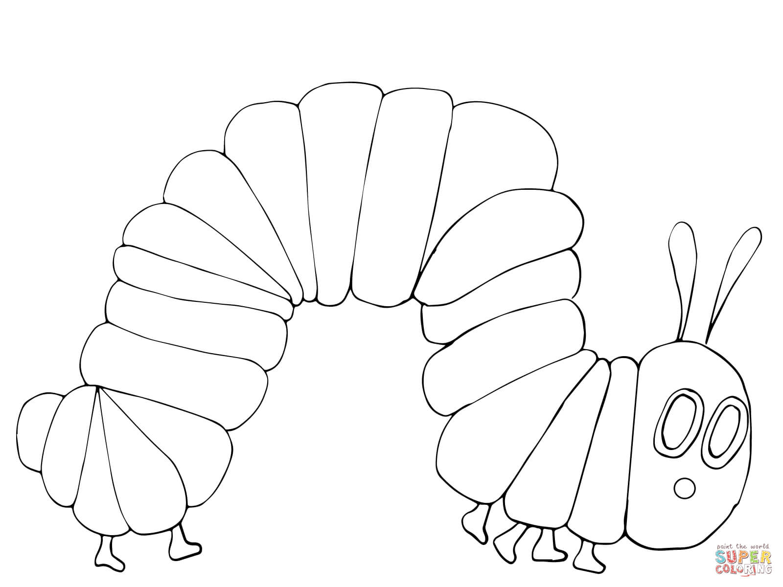 1600x1200 Endorsed Very Hungry Caterpillar Coloring Pages Free Download Page